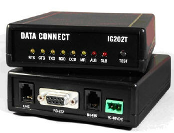 DATA CONNECT IG202T INDUSTRIAL GRADE BELL 202T MODEM 100-240VAC OR 10-48VDC