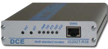 DCE IG202T-R38-DC12 Industrial Grade 1200/600 Baud with Cegelec & Indactic 33 Communication Standards