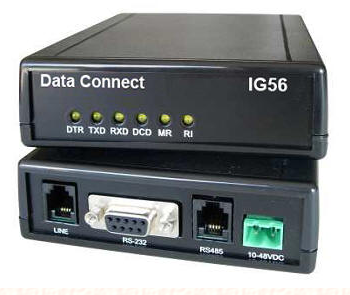 DCE IG336-HV V.34 33.6KBPS STANDALONE DIAL MODEM -HIGH VOLTAGE