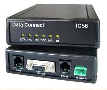 DCE IG336-LV V.34 33.6KBPS STANDALONE DIAL MODEM -HIGH VOLTAGE